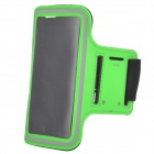 SUNSHINE Sports Velcro Protective Arm Bag for Samsung Galaxy S5 / i9600 - Green + Black