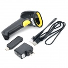 8033 2.4GHz Wireless Handheld Laser Barcode Scanner Gun - Black
