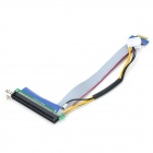 PCI-E 1X to 16X Adapter Card Flex Extension Cable - Green + Black + Multi-Colored (20cm)