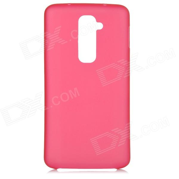 Stylish Ultra-Thin 0.3mm Plastic Back Case for LG Optimus G2 - Translucent Red