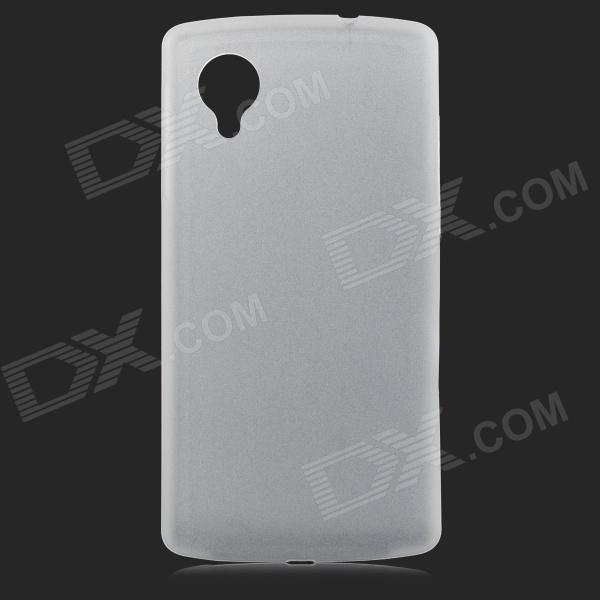 0.3mm Ultrathin Protective Plastic Back Case for Google Nexus 5 - Translucent White protective silicone case for nds lite translucent white