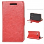 Stylish Protective PU Leather + PC Case for MOTO G - Red