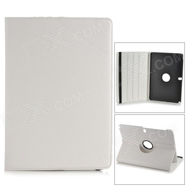 Protective 360 Degree Rotation PU Leather Case for Samsung Galaxy Note Pro12.2 P900 / P905 - White