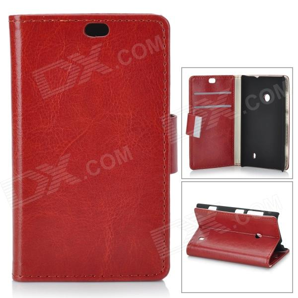все цены на Protective PU Leather + PC Case for Nokia Lumia 525 / 520 - Brown онлайн