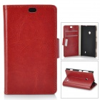 Protective PU Leather + PC Case for Nokia Lumia 525 / 520 - Brown