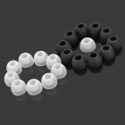 Replacement Silicone Earbud Covers for In-Ear Earphones - Black + White (20 PCS)