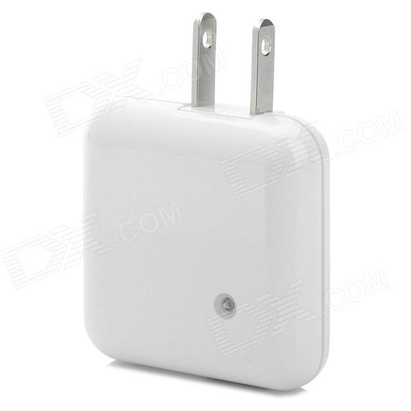 Rotatable USB AC Power Charger Adapter - White (2-Flat-Pin Plug / 110~240V) 6 usb port ac power charger adapter w us plug for iphone ipad ipod samsung tablet pc white