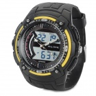 ALIKE AK1280 Stylish Sports Waterproof Digital + Analog Quartz Wristwatch w/ Calendar - Black