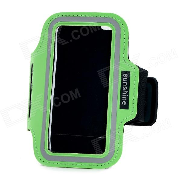 Universal Sports Neoprene + PVC Armband for IPHONE 4 / 4S / 5 / 5C / 5S - Green + Black