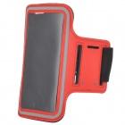 SUNSHINE Sports Velcro Protective Arm Bag for Samsung Galaxy S5 / i9600 - Red + Black