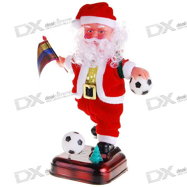 Football Judge Santa Claus Christmas Toy with Music Effects (3*AAA)