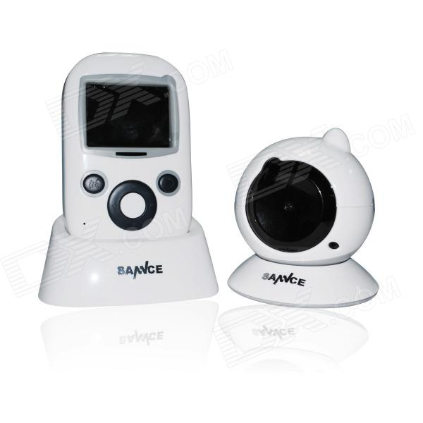 "SANNCE 2.4"" LCD 1.0 MP 2.4GHz Digital Video Baby Monitor w/ 9-IR LED - White (for NTSC Country)"