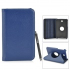Protective PU Leather Case w/ Stylus for Samsung Tab 3 7.0 T210 / T211 / P3200 / P3210 - Dark Blue
