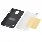 Caso SUNSHINE protectora ABS Volver w / Clear Screen Protector Film para Samsung Galaxy i9600 S5 - Negro