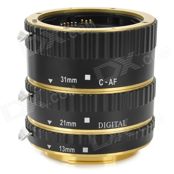 3-in-1 67mm Aluminum Alloy + Brass AF Extension Ring for Canon - Golden