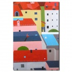 Iarts Modern Colorful Building Hand Painting - Multicolored