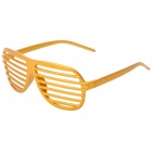 Nightclub Show Dancing Party Plastic Spectacle Frames - Golden