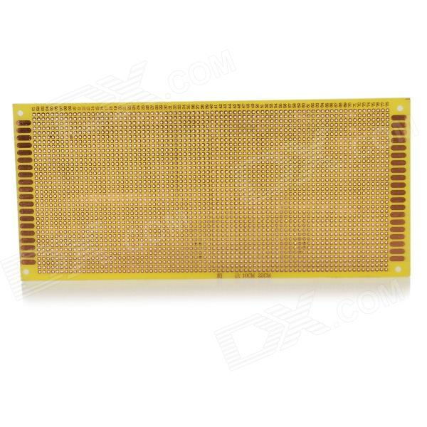 10 x 22cm Universal Experiment Organic Resin Circuit Board - Yellow