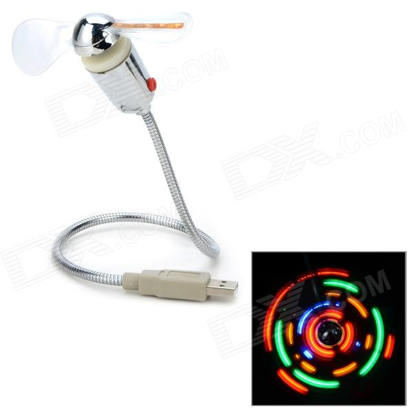 Colorful Light USB 2.0 2-Blade Fan w/ Switch