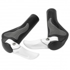 DASHER Outdoor Sports Cycling Aluminum Alloy Bar Ends - White (Pair)