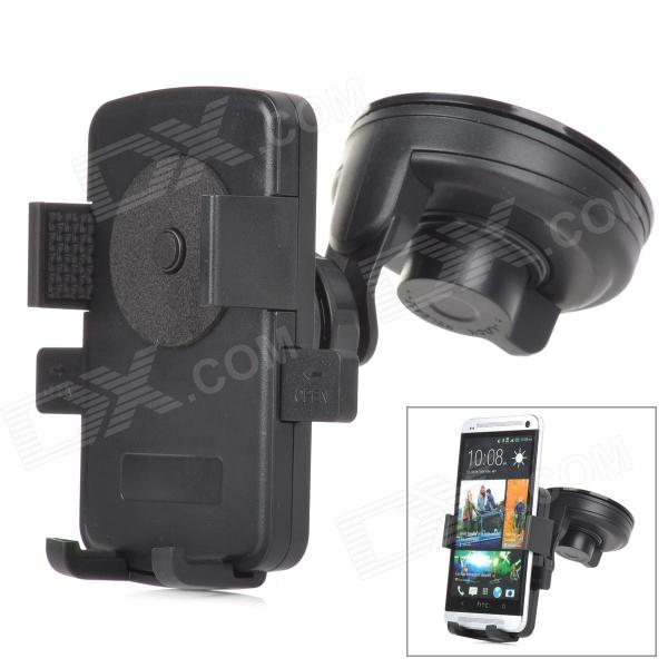 Universal 360 Degree Rotate Suction Cup Car Mount Holder for Mobile Phone - Black mymei universal car steering wheel mobile phone holder stand bracket for iphone xiaomi samsung huawei meizu width of suitable 55 7