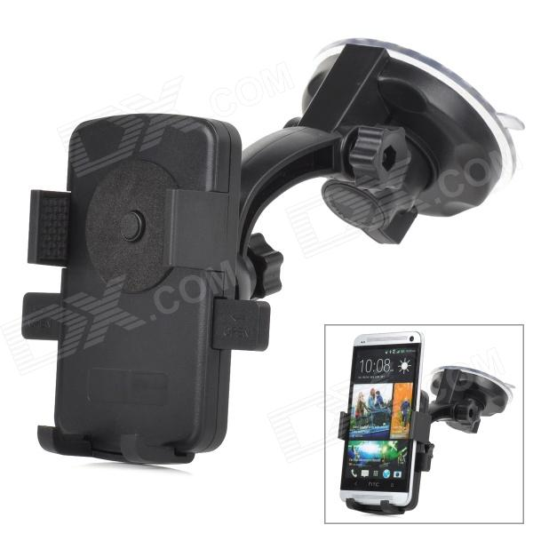 Universal 360 Degree Rotate Car Mount Holder for Mobile Phone - Black mymei universal car steering wheel mobile phone holder stand bracket for iphone xiaomi samsung huawei meizu width of suitable 55 7