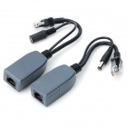 POE01S-I POE Ethernet Power Splitter + Injector Combiner Set - Black