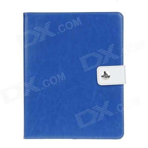 все цены на Stylish PU Leather Case Cover Stand w/ Auto Sleep / Card Holder for IPAD 2 / 3 / 4 - Blue онлайн