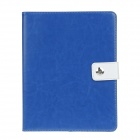 Stylish PU Leather Case Cover Stand w/ Auto Sleep / Card Holder for IPAD 2 / 3 / 4 - Blue