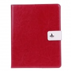 Stylish PU Leather Case Cover Stand w/ Auto Sleep / Card Holder for IPAD 2 / 3 / 4 - Red