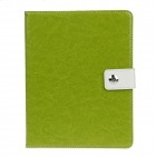Stylish PU Leather Case Cover Stand w/ Auto Sleep / Card Holder for IPAD 2 / 3 / 4 - Green
