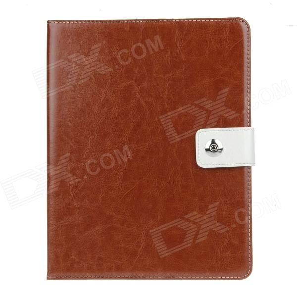 Stylish PU Leather Case Cover Stand w/ Auto Sleep / Card Holder for IPAD 2 / 3 / 4 - Brown multi function pu leather case vent holes sound amplifier for ipad 3 4 orange