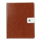 Stylish PU Leather Case Cover Stand w/ Auto Sleep / Card Holder for IPAD 2 / 3 / 4 - Brown