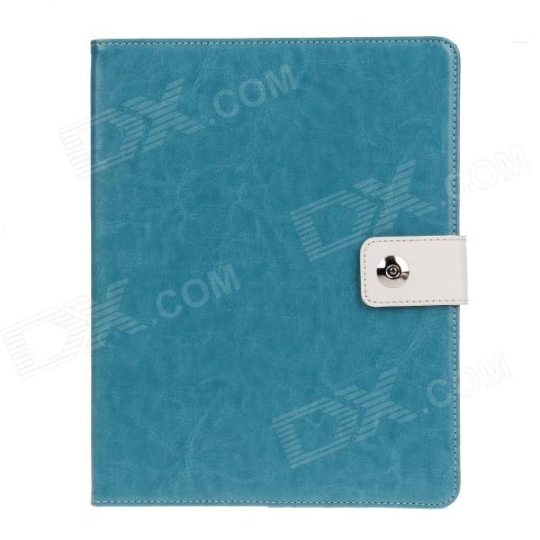 все цены на Stylish PU Leather Case Cover Stand w/ Auto Sleep / Card Holder for IPAD 2 / 3 / 4 - Lake Blue онлайн