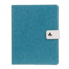 Stylish PU Leather Case Cover Stand w/ Auto Sleep / Card Holder for IPAD 2 / 3 / 4 - Lake Blue