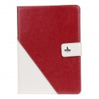 Stylish PU Leather Case Cover Stand w/ Auto Sleep / Card Holder for IPAD AIR - Red + White