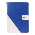 Stylish PU Leather Case Cover Stand w/ Auto Sleep / Card Holder for IPAD AIR - Blue + White