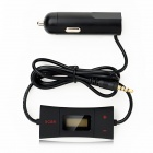 "0.8"" Screen 2-CH HiFi Automatic Search FM Transmitter - Black"