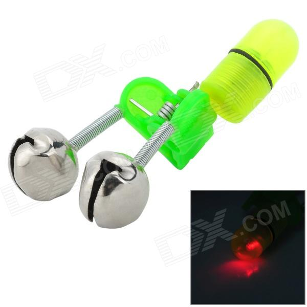 Luminous Bell Fishing Signal Red Light Lamp Warner - Green + Silver