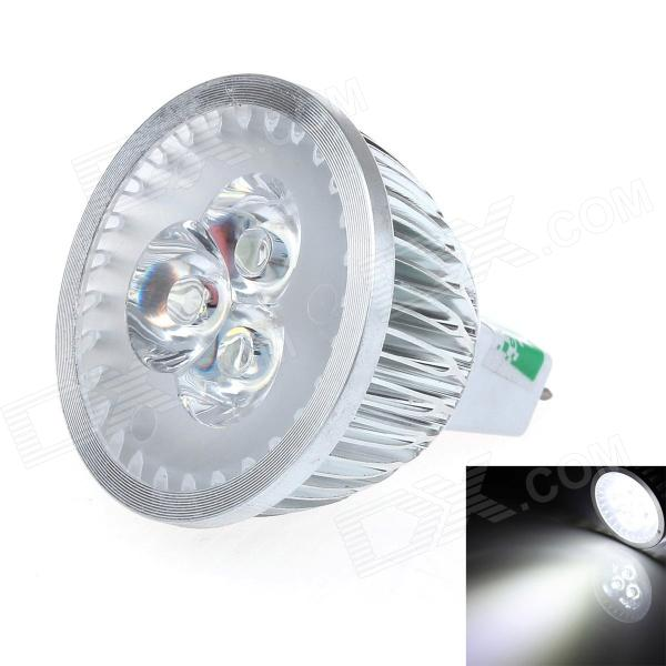 LUO V19 MR16 3W 300LM 6000K 3-LED White Light Spotlight - Silver (12V) casual sandals shoes fashion breathable mesh shoes summer men sandals cheap men slippers sandals walking shoes