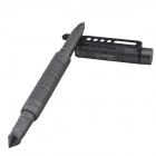 LAIX B7 Aviation Aluminum Outdoor Self-Defense Tactical Black Ink Pen - Grey
