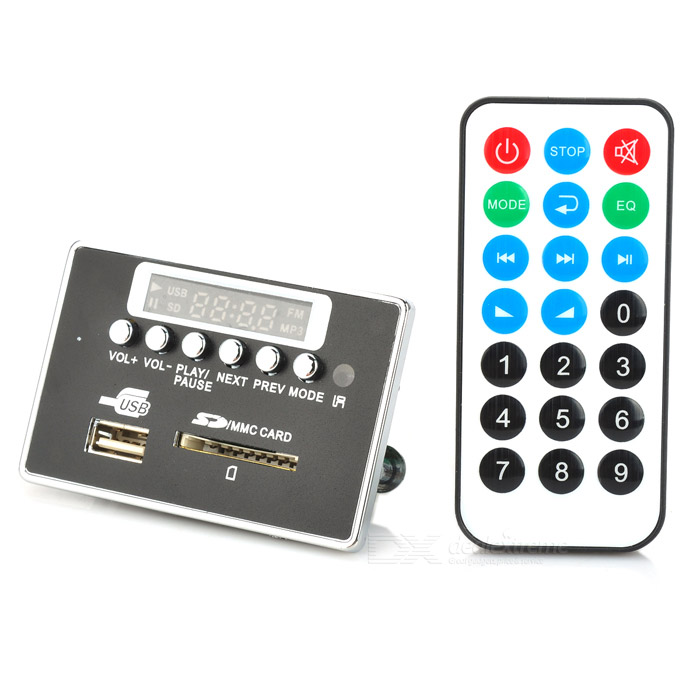 866BT Digital Audio MP3 Player Module w/ Remote Controller / Bluetooth /SD /USB - Black iwistao hifi digital amplifier stereo audio 2x50w support u disk tf card mp3 wav remote control 8 320kbps usb amp free shipping