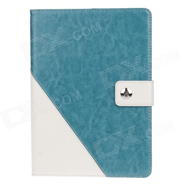 Stylish PU Leather Case Cover Stand w/ Auto Sleep / Card Holder for IPAD AIR - Lake Blue + White flip left and right stand pu leather case cover for blu vivo air