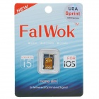 FalWok SIM Card for IPHONE 5S/ 5C /5 Only Unlock USA T-Mobile Carrier Use 3G SIM Card -Black +Golden