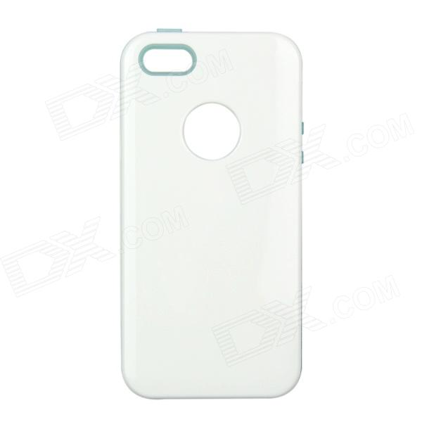 Remax Protective TPU + Plastic Back Case for IPHONE 5 / 5S - White + Translucent Blue