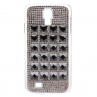 Stylish Decoration Shiny Rhinestone Protective Plastic Case for Samsung Galaxy S4 i9500 - Silver