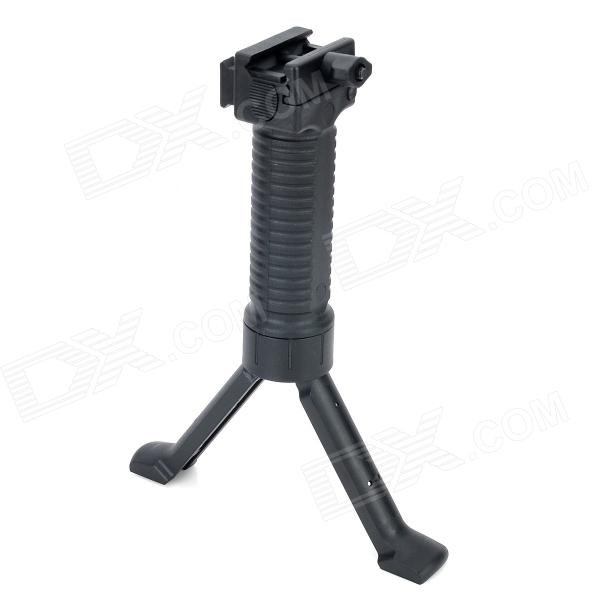 Universal Plastic Gun Grip with Rail for M16 - Black