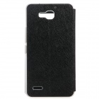 KALAIDENG Protective PU Leather Case Cover Stand for HUAWEI Honor 3X (G750-T00) - Black