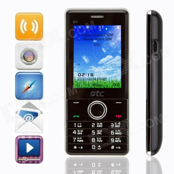 "DTC Q1 GSM & CDMA Bar Phone w/ 2.4"" Screen, Dual SIM, FM - Black"