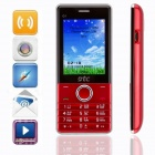 "DTC Q1 GSM & CDMA Bar Phone w/ 2.4"" Screen, Dual SIM, FM - Red"
